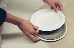I am planning a new series of workshops in my studio in Dudley Road, Hastings. The plan is to make a series of plates using paper plates in different sizes as slump molds. Plates are great canva…