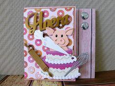 @ Hoera, gefeliciteerd, proficiat, taart, feestvarken (COL1402 - Marianne Design Collectables)