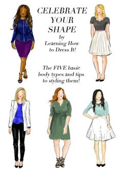 The five basic body types and tips for dressing each of them!