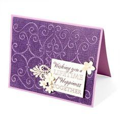 Card: Scrollmark Embossed Wedding Card