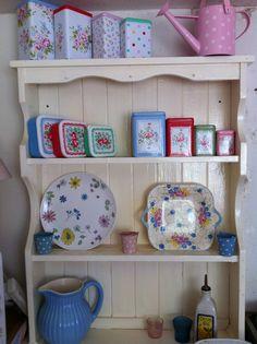 kitchen dresser - love the items on it