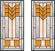 This Craftsman style of glass uses cheverons very well in the design. This cabinet insert would also work well with kitchen cabinet doors of...
