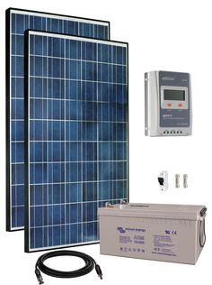 12V Fotovoltaický ostrovní systém 550Wp (MPPT)