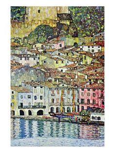 10 x 15 Canvas Malcena At The Gardasee Art Print by Gustav Klimt at Art.com
