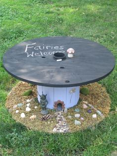 Upcycled Cable Spool Custom Chalkboard Top by PipThePaintedPig, $150.00