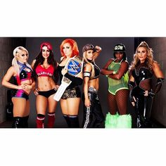 Strong, motivated, determined, focused, athletic, empowering, inspiring.... Walking in Survivor Series with the ultimate squad. May not see eye to eye with some of them (cough cough Carmella) but I respect and admire each and every one of them! It's an honor to be walking in as their captain but that's just a title because I won a match. We all are captains and that's what makes Team Blue so strong! We are ready to Stay Fearless, kick some Lass, look Fabulous and run that ring like the Queen…