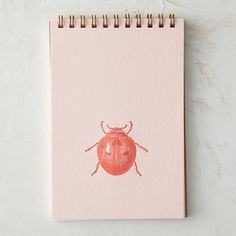 Ladybug Letterpress Notebook