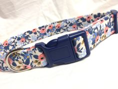 Rifle Paper Co. Dog Collar Les Fleurs Fabric by PinkysPetGear