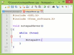 """Notepad++ is a free (as in """"free speech"""" and also as in """"free beer"""") source code editor and Notepad replacement that supports several languages. Running in the MS Windows environment, its use is governed by GPL License."""