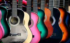 Guitarras de Colores - Fondos de Pantalla. Imágenes y Fotos espectaculares.