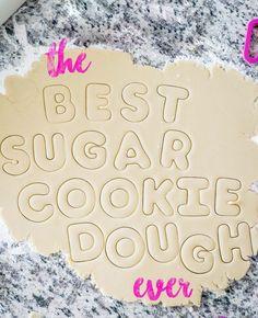 The Best Sugar Cookie Recipe Best Sugar Cookie Recipe, Cookie Dough Recipes, Sugar Cookie Dough, Best Sugar Cookies, Iced Cookies, Cut Out Cookies, Royal Icing Cookies, Holiday Cookies, Cake Cookies