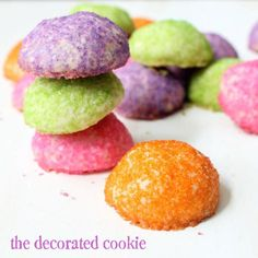 sparkly rainbow glittering cookies (recipe from Sprinkle Bakes cookbook)