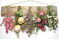 Dried Flower Rack Dried Floral Arrangement by summersweetboutique, $32.00