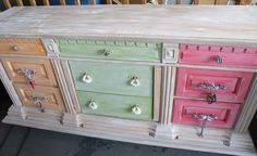 old dresser turned into a ladies tool chest, before and after