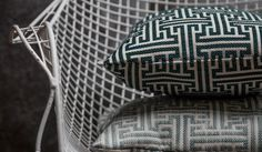 BROCHIER Fabrics | Solida Collection 2017 | Labirinto geometric jacquard, available in seven colours