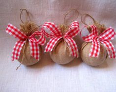 Popular items for burlap ornaments on Etsy