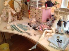 Кукольная мастерская ANNADAN: Мастерская, работа над новой куклой....