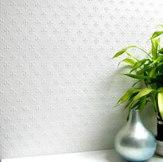 Tudor / Classical (RD392) - Anaglypta Wallpapers - Embossed wallcoverings for that more durable finish that can easily be painted to give the desired results. Small embossed fleur de lys motif.