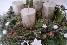 TVOŘENÍ NA PŘÁNÍ...STROMEČKY A ADVENTNÍ DEKORACE NA STŮL Merry Little Christmas, Christmas Colors, Winter Christmas, Christmas Decorations, Xmas, Christmas Ideas, Colour Board, Pillar Candles, Different Colors