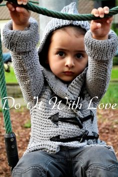 Duffle Coat Crochet Pattern Free shipping  ❤ E-Book Häkelanleitung Duffle Coat Jacke Pulli ❤ von  DO IT WITH LOVE auf DaWanda.com