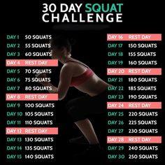 30 Day Squat Challenge - Fitness Training Workout Lunges Ab Butt