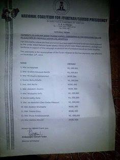 It's Busayolayemi's Blog.. : See Alleged Document Of GEJ'S Payment to Kaduna Is...