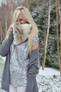 gray sequin tank with gray sweater natural or teal pencil skirt and green anthropologie green jeweled belt