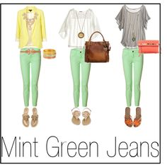 Mint Jeans For spring, the middle outfit