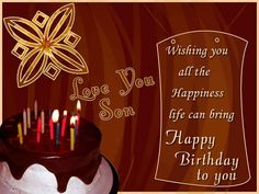 Cool happy birthday wishes for son images