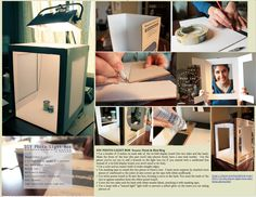 Make Your Own Photo Light Box for Close Up Images Click on photo to go to the Ninth & Bird Blog