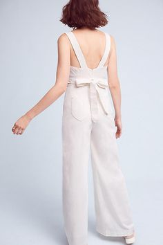 anthropologie white chino jumpsuit, spring 2017