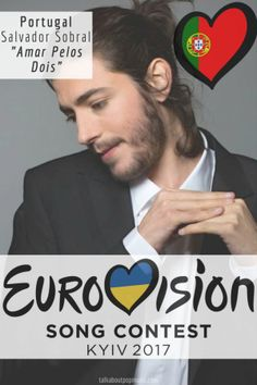 "Eurovision Song Contest 2017 Winner: Portugal - ""Amar Pelos Dois"" By Salvador Sobral Eurovision 2017, Eurovision France, Portugal, Music Love, Pop Music, Salvador, Samba, Hetalia, Orchestra"