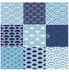 Seamless ocean wave pattern vector 1194654 - by paul_june