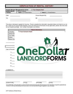 If You Are Going To Be A Landlord This Template May Come In Handy