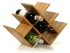 Amazon.com: W Shape 8 Bottle Tabletop Wooden Wine Rack (Improved Oct. 2014): Home & Kitchen