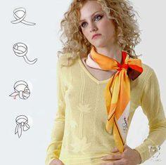Maneras de cómo ponerse un pañuelo en el cuello ~ cositasconmesh