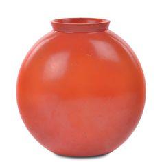 Guido Andlovitz - S.C.I.- Laveno - Vaso modello 1316/1 ceramica smaltata in rosso, 1939