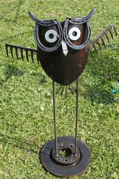 Big Hoot... Made from rake, can opener, horse shoes, etc