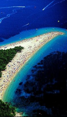 "Zlatni Rat - Croatia,beaches    ""mum I want go back there"" ""me too honey"" <3"