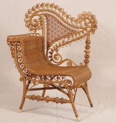 This Victorian Wicker Chair in natural color sold for $250 in January 2012. Painting wicker can affect its price.