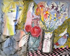 """Lydia Corbetts """"Sylvette, the vase and the parrot"""""""