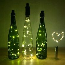 Furniture Sunny 2017 Hot Sale 20 Led Chic Cork Shaped Night Starry Light Wine Bottle Lamp For Xmas Decor Cool
