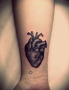 anatomical heart sketch tattoo - Google Search