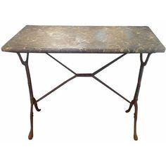 Image of Vintage French Bistro Table Desk