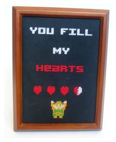 It's dangerous to go alone! Take this. | 19 Delightfully Geeky Cross Stitches You Wish You Owned