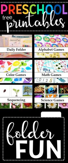 TONS of FREE Preschool Learning Games for Kids!  At Folder Fun we have Hundreds of free printable file folder games, covering grades Preschool-3rd, and a variety of different subjects.https://filefolderfun.com/SearchPreschool?utm_campaign=coschedule&utm_source=pinterest&utm_medium=Valerie&utm_content=Preschool%20File%20Folder%20Games
