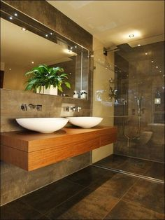 Browse modern bathroom ideas images to bathroom remodel, bathroom tile ideas, bathroom vanity, bathroom inspiration for your bathrooms ideas and bathroom design Read Modern Bathrooms Interior, Contemporary Bathrooms, Bathroom Interior Design, Bathroom Designs, Bathroom Ideas, Bathroom Modern, Rustic Bathrooms, Interior Ideas, Contemporary Tile
