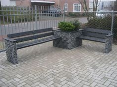 Gabinova Gabionen Tisch und Bank / Schanskorven tafels en banken / Gabion table and bench 5