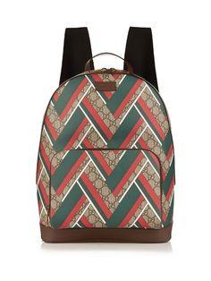 Gucci Gg Supreme Chevron-print Backpack