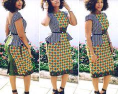 Monostrap Ankara robe Maxi par Africandressshop sur Etsy